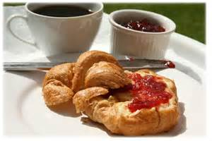 What could be better than a hot cup of tea or coffee, a croissant and fresh jam